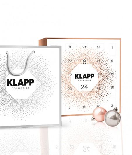 KALENDARZ ADWENTOWY + TOREBKA PREZENTOWA - ampułki + mini produkty KLAPP